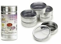 Set Of 6 Jewelry Bead Storage Container Aluminum 3 X 1