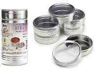 Set Of 6 Jewelry Bead Storage Container Aluminum 3 X 1