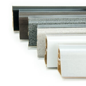 abschlussleiste 37mm winkelleisten tischplatte arbeitsplatte k che 250cm ebay. Black Bedroom Furniture Sets. Home Design Ideas
