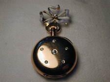 Stunning Antique 18K Gold Tiffany & Co. Diamond Enamel PocketWatch Pocket Watch