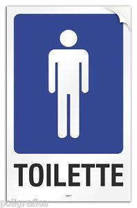 Cartello-PVC-adesivo-034-Toilette-uomo-034
