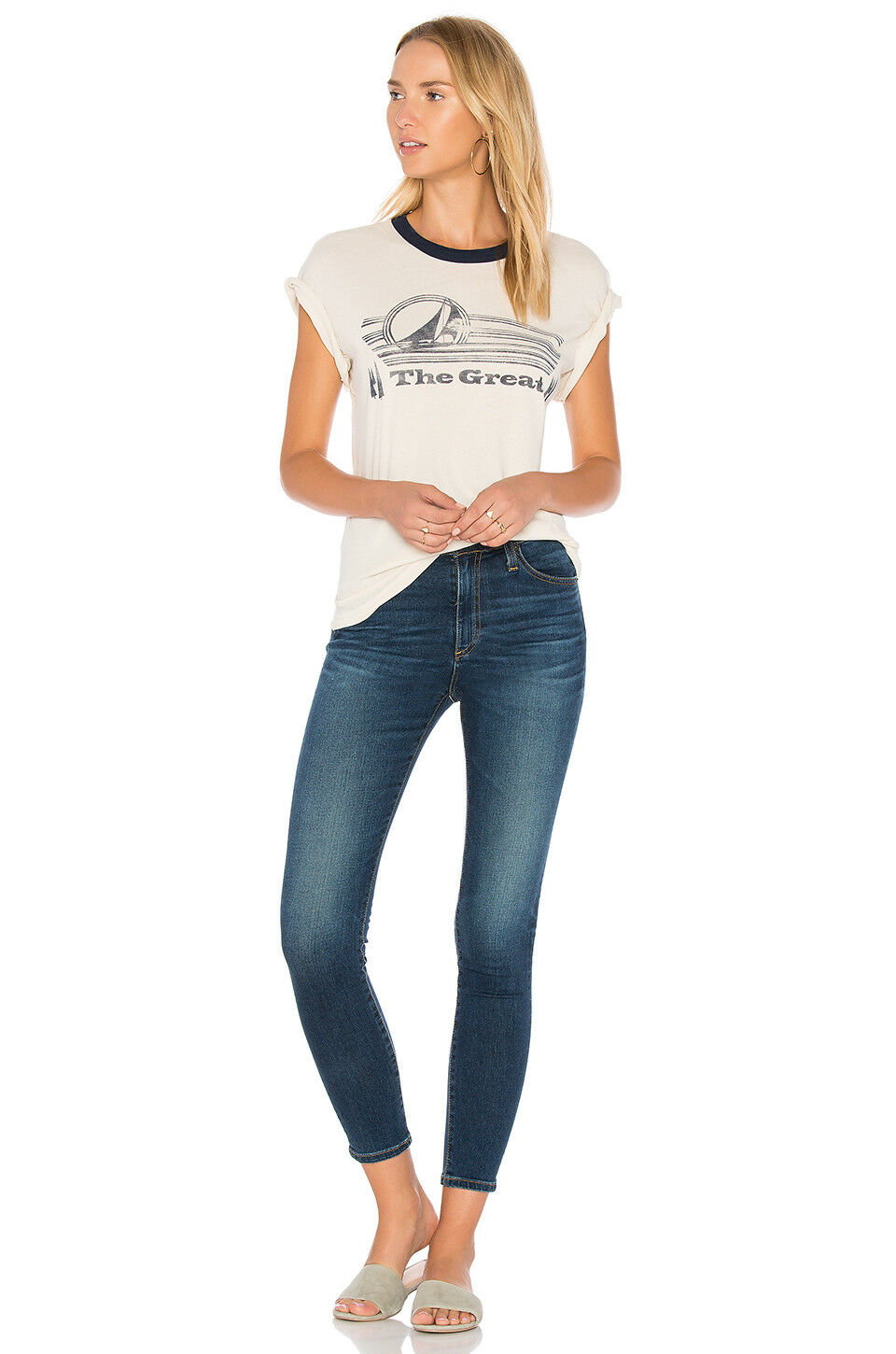 AG goldschmied Farrah Ankle High-rise Skinny Crop Jeans - 4 years rapids - 32