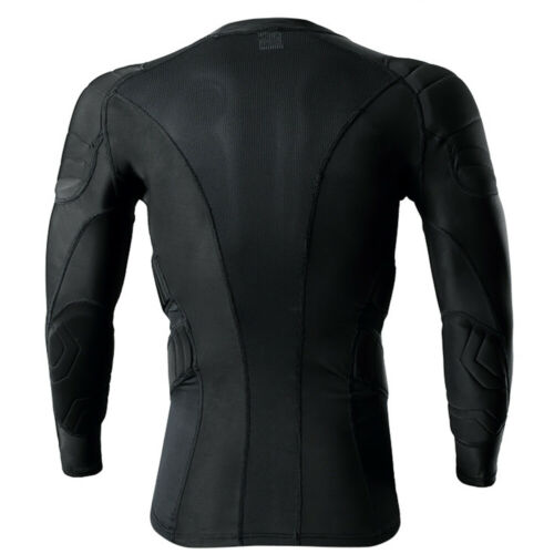 Janus Men Soccer Football Jersey GoalKeeper Protective Long Sleeve Shirt Top Pad