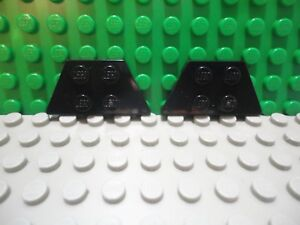 Lego 2 Dark Bluish Gray 2x4 wedge plate wing ship airplane NEW