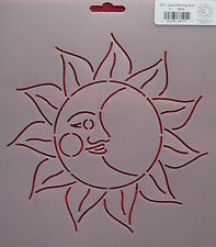 "Stencil Quilting Good Morning Sun 7"" 18cm quilt sew Zentangle stitch VN1 QC"