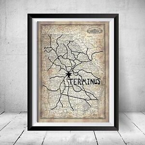 The-Walking-Dead-Terminus-Map-Replica-Prop-Christmas-Gift-Art-Daryl-Negan-Decor