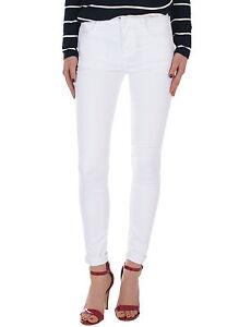 Damen-Jeans-Hose-Stoffhose-normaler-Bund-Damenhose-stretch-weiss-Neu