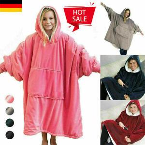 2021 Hoodie Decke Übergroße Ultra Plüsch Bequeme Sherpa Wende Sweatshirt Decke