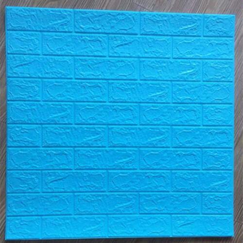 5x Plastic 3D Tile Brick Wall Sticker Self-Adhesive Paper Panels Decorations