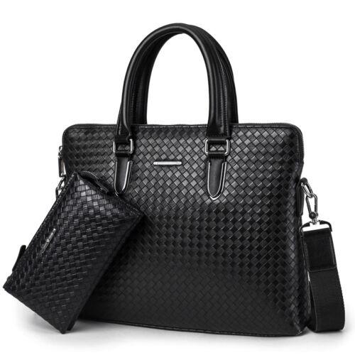 Business Briefcase Men Leather Shoulder bag Handbag Laptop Messenger Bag Wallet