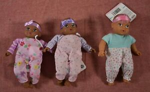 """8/"""" Perfectly Cute My Lil/' Baby Doll Dark Brown Hair Lot of 2 Babies"""