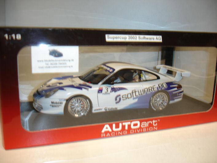 Autoart   Porsche 911 Super Cup 2002 Software AG  RAR Umbau