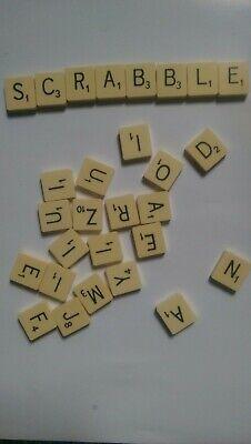 2 Vintage Original Plastic Square Backed Scrabble Tiles Choose your letters
