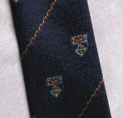 Bello Vintage Tootal Cravatta Da Uomo Cravatta Retrò 1980s Fashion Scudo Crest-mostra Il Titolo Originale Processi Di Tintura Meticolosi