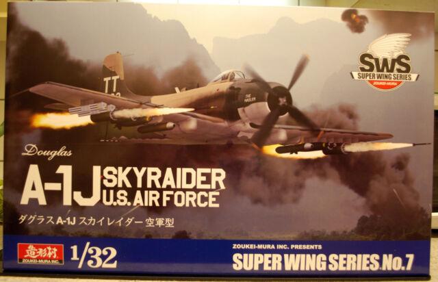 Douglas A-1 J Skyraider US Airforce, 1:32, Zoukei-Mura Super Wing Ser. No. 7