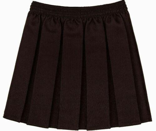 New Girls School Skirts Pleated Elasticated Waist Skirt Kids Uniform 2-18 Years