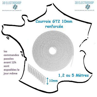 Courroie Pu Renforcée Gt2 10mm Pas 2mm (1,2 Ou 5m) Imprimante 3d Timing Belt Design Moderno