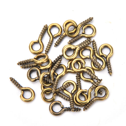 100 Pcs//lot 8mm 10mm Small Sheep Eyes Nail Screw For Beaded PendantSP