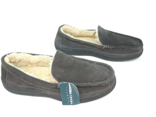 Men/'s Craftsman Suede Venetian Slipper Grey 35262 Keegan 33Y New