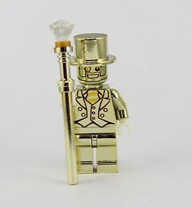 Minifigures Lego Mr Gold figure LEGO Compatibile Perfect Spedizione Da Roma