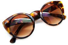 42a242a5602a Cat Eye Vintage Style Oval Sunglasses Women Retro Frame Designer Fashion  Round