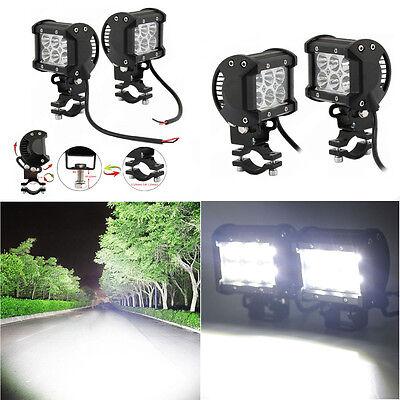 2pcs 18W Adjustable Motorcycle CREE LED Driving Fog Spot Spotlight Lamp Light