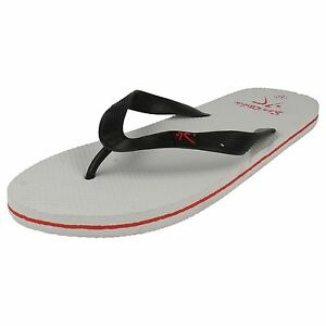 MEN'S  SPORTSKIN FLIP FLOPS black white red