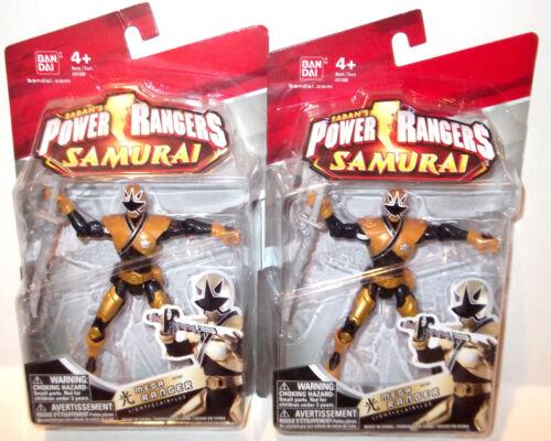 Power Rangers Samurai 2011 ✰ Lumière ✰ Gold Mega Ranger ✰ Comme neuf on card Figure