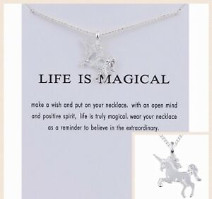Uhren & Schmuck Modeschmuck Angemessen Unicorn Pendant Necklace Silver/gold/multi Kids Party Gift Costume Jewellery Uk