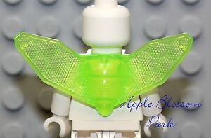 NEW Lego Minifig Trans GREEN WINGS - Female Princess Fairy Insect Neon Neck Gear