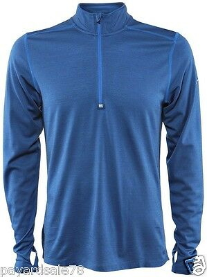 MEN'S SMALL RUNNING SHIRT DRI-FIT WOOL STAY WARM $85.00 NWT LONG SLEEVE 1/4 ZIP