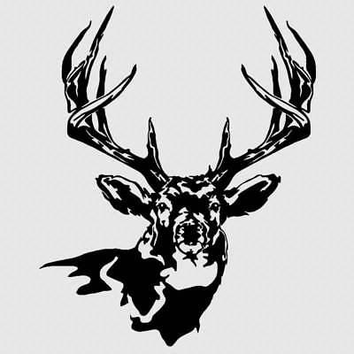 2 Browning Buck Deer Head Sticker Vinyl Decal Hunting Car Truck Window Yetti