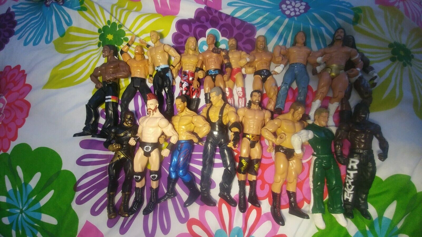 WWE Action Figure Lot Of 10 Random Wrestlers from the collection
