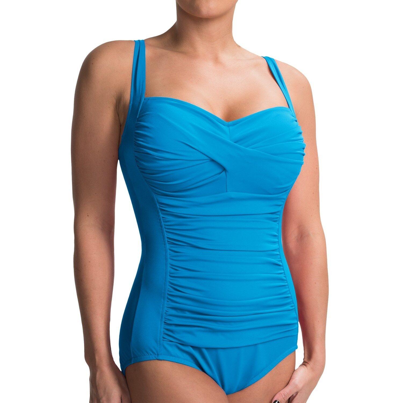 Orig.  Miraclesuit Trimshaper Must Haves Averi Swimsuit 10 40 bluee Aqua