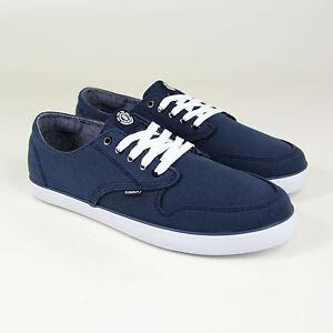 Element-Topaz-Sneaker-Navy-Washed-Dunkelblau-Weiss-Skateschuhe-Canvas-Neu