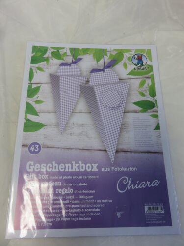 Ursus Geschenkbox ** Kommunion/Firmung/Konfirmation* Geburtstag Karten 5140043 Basteln & Kreativität
