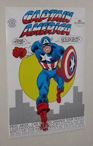 Original-1989-Marvel-Comics-FBI-Captain-America-poster-Romita-art-Avengers-1980s