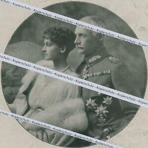 Kronprinz Rupprecht und Prinzessin Antonia - Verlobungsbild - um 1918   Y 5-19