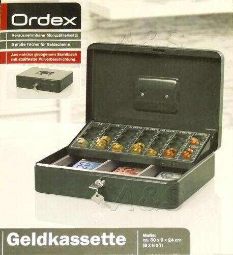 Geldkassette ORDEX Herausnehmbarer Münzzähleinsatz Geld Transportkassette Kasse