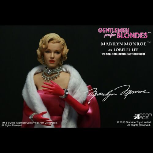Star Ace Toys GENTLEMEN PREFER BLONDES Marilyn Monroe 1//6 Figure Pink Version