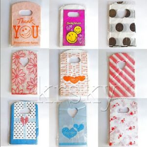 50Pcs Wholesale Lots Plastic Small Packing Jewelry Gift Bag Shopping Bag 15x9cm