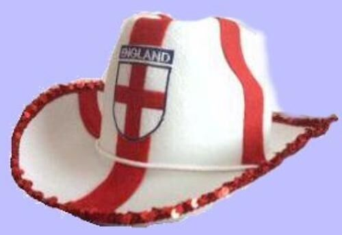 England St George English Cowboy Style Hat Fancy Dress Costume NEW