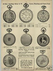 1913 PAPER AD 4 PG 18 Size Pocket Watch Hercules Dueber Elgin Railroad