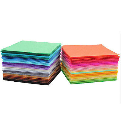 40pcs 15 x 15cm Fabric 1mm Thickness Polyester Felt Bundle For Sewing Dolls Use