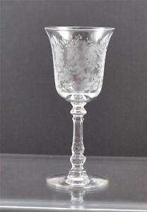 Vintage-Heisey-Orchid-Etch-Clear-Crystal-Stemware-Goblet-Wine-Water-Sherbet-Y14