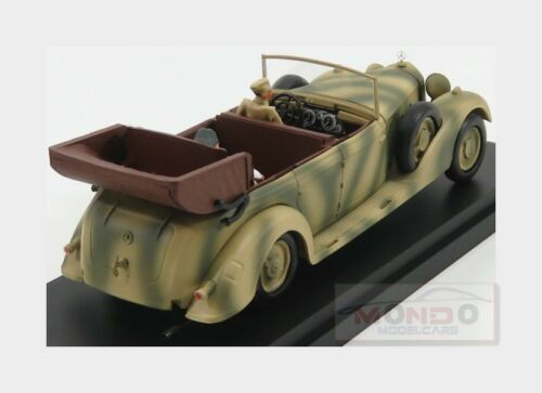 Mercedes 770 Africa Korps 1941 Mimetic Car Rommel And Driver RIO 1:43 RIO4575P