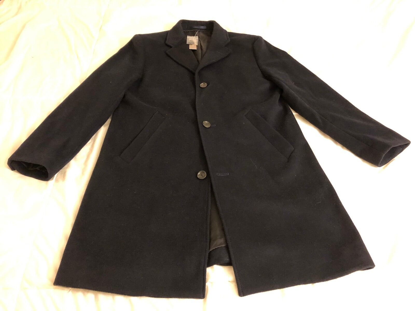 J.Crew Ludlow Topcoat in Italian Wool-Cashmere, Navy, 38S, NWT, See Pics
