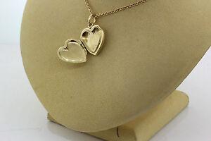 afb37ab7e Tiffany & Co. 14k Yellow Gold Heart Locket Pendant on Necklace 8.4g ...