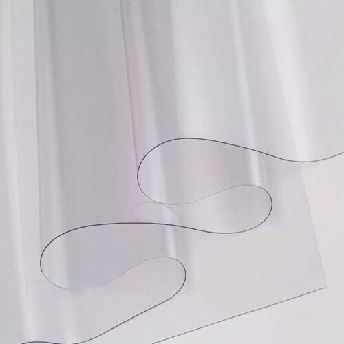 TELO TRASPARENTE TELONE IN PVC CRISTAL TAGLIO AL MEZZO METRO LINEARE 650G//MQ