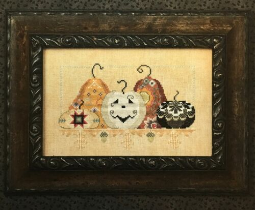 Playing with Jax Pumpkins Halloween Cross Eyed Cricket Cross Stitch Pattern